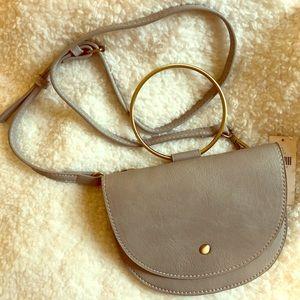Anthropologie Bracelet Bag, Taupe